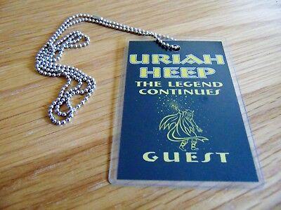 Badge: Uriah Heep : The Legend Continues : Film Screening Lanyard : Very Rare