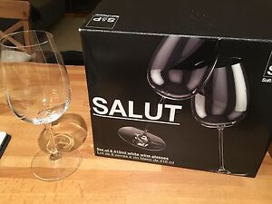 Set of 6 S&P Salut white wine glasses Mosman Mosman Area Preview
