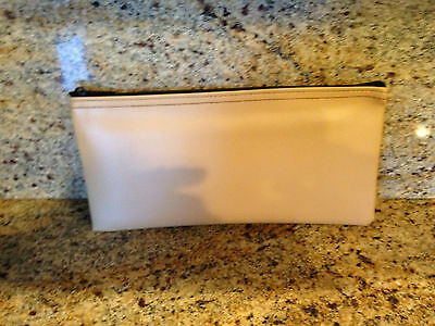 Deposit Bag Bank Pouch Zippered Safe Money Bag Organizer In Tan   New
