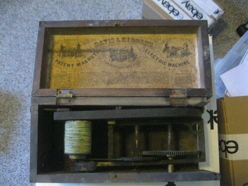Davis & Kidder Magneto-Electric Machine-1854-Antique Medical Quack