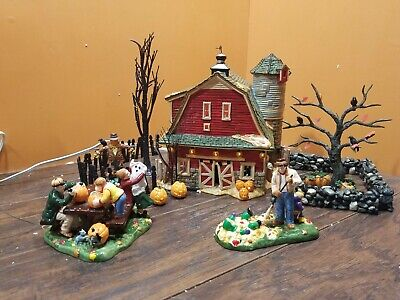 Spooky Trees For Halloween (VIDEO Dept 56 55060 Haunted Barn Preparing For Halloween Spooky Tree Village)