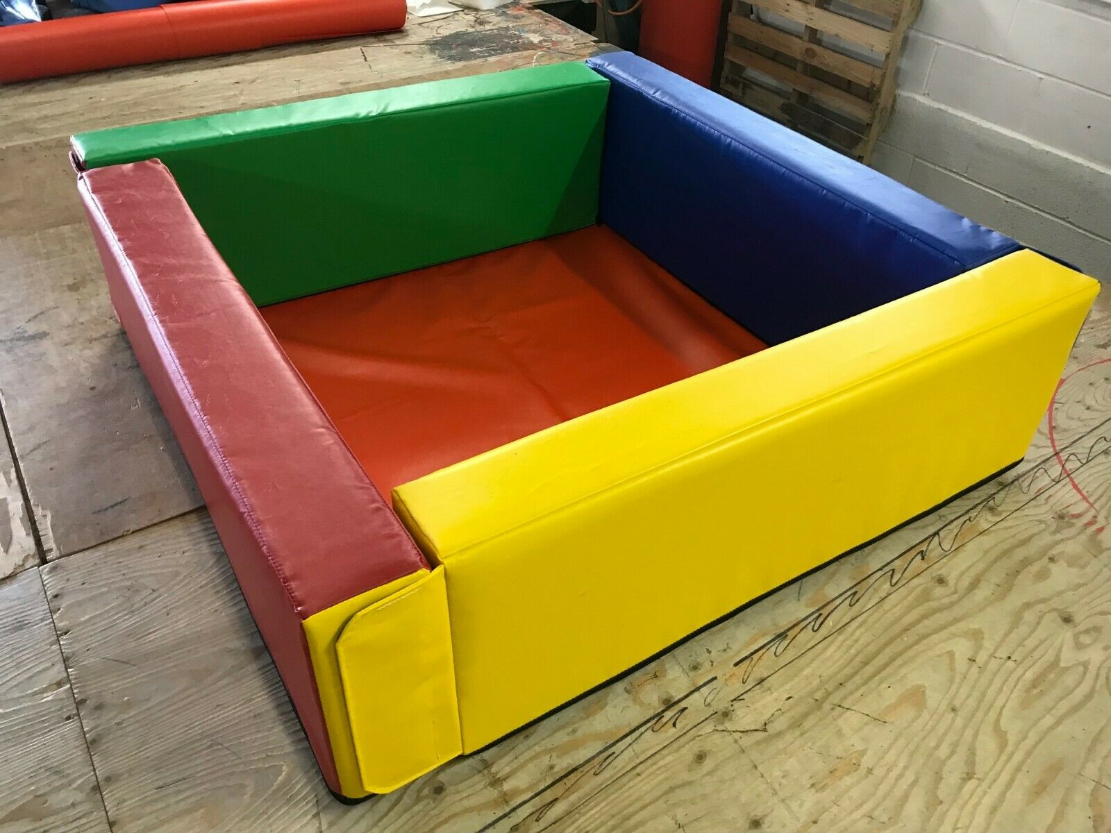 "Multi Coloured Ball Pond 4.6ft x 5ft x12""  high  x 6"" more colours to order"
