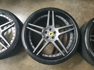 Complete set of Novitec NF3 wheels for Ferrari California with tires.