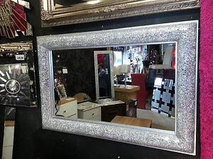 Effetto crepa fiocco disegno da parete smussato specchio for Specchio da parete argento