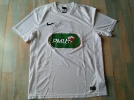 MAILLOT FOOT NIKE PMU AVEC SIGNATURE N°13 TAILLE L/D6 TBE