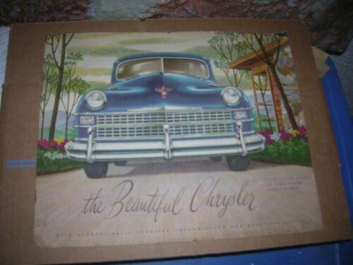 1947-1948 Chrysler Catalog Sales Brochure Town & Country Original