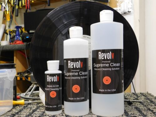 Case, 12*16 oz Record Vinyl LP Cleaning Solution Ready to use No alcohol Revolv
