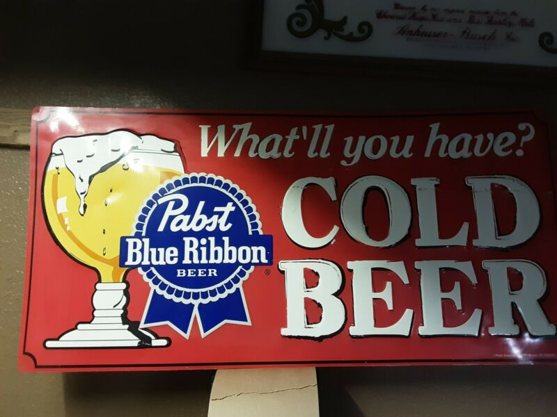 PABST BLUE RIBBON is what you