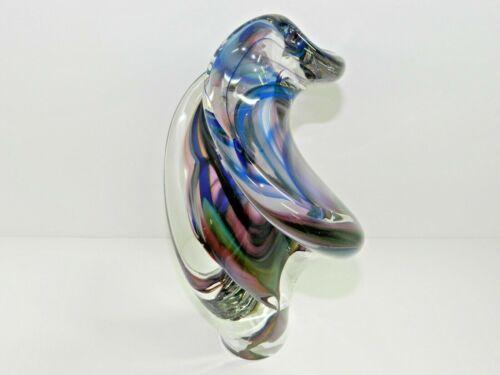 DAVID GOLDHAGEN ORIGINAL STUNNING ART GLASS SCULPTURE SIGNED JAN. 1997