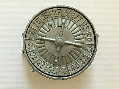 Spinning Roulette Wheel (Roulette Wheel with Spinning  Center Metal Belt Buckle )