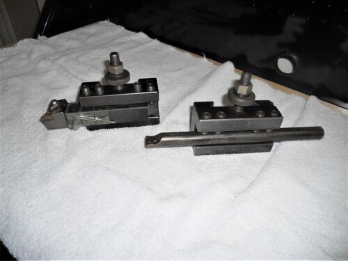 Aloris CA-1 and CA-2 Quick Change Tool Holders w/ Boring Bar & Insert Holder