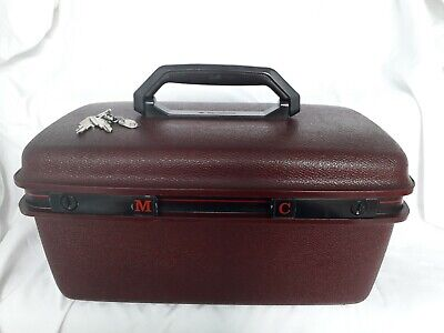 Vintage Mid Century Samsonite Burgundy -Hard Shell Vanity Case / Hand luggage