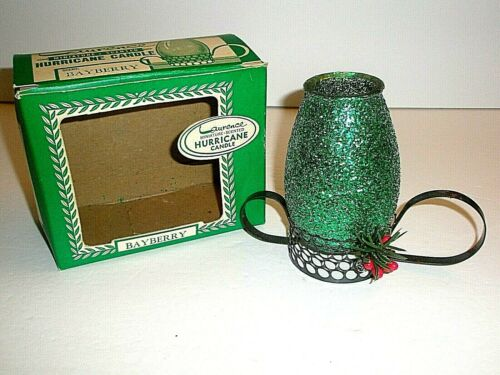 Laurence Hurricane Candle Bayberry Scented Miniature Green Christmas Unused