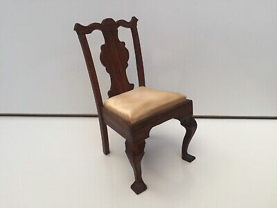 VINTAGE OCCASIONAL CHAIR HAND CRAFTED DOLLS HOUSE DOLLHOUSE FURNITURE