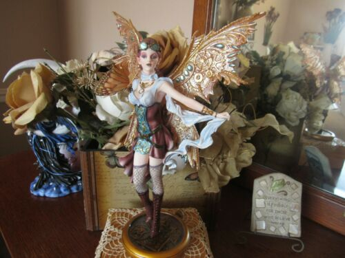 12 inch STEAMPUNK fairy figurine on Timepiece Pacific Giftware Brand New in Box