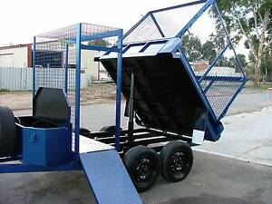 8X5 3/4 TIPPER TRAILER WITH MOWER/STORAGE AREA Adelaide CBD Adelaide City Preview