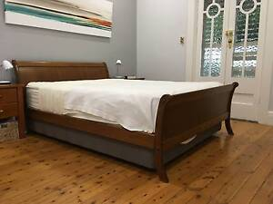 Queen Bed head  and frame, optional  side tables Chatswood Willoughby Area Preview