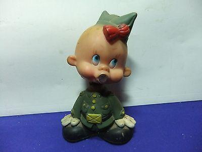 vtg bobble head gi joe baby rubber spain 1960s ? warner brothers looney tunes ?