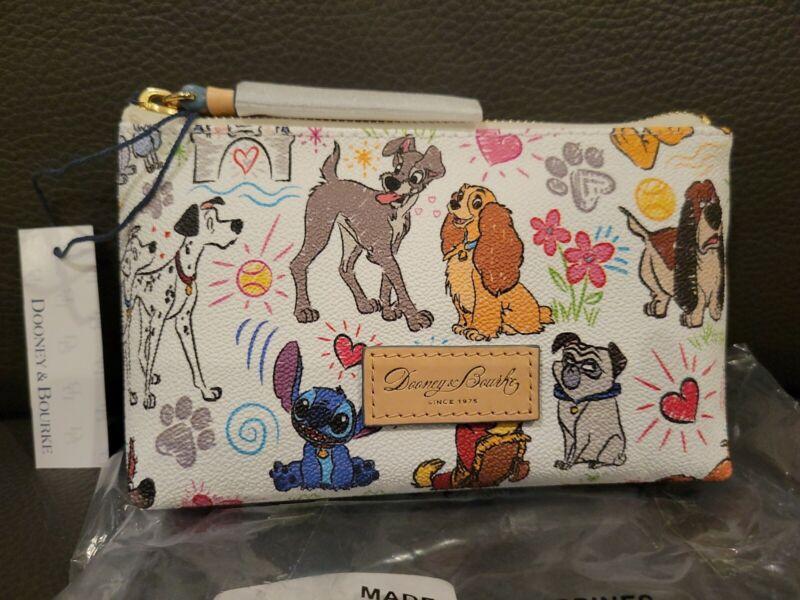Disney Dooney & Bourke Dogs Sketch Bag Cosmetic Case – NWT Lady Tramp Dalmatians