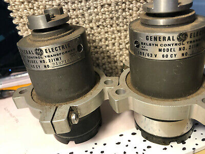 2 Ge General Electric 2j1m1 Selsyn Control Transformers