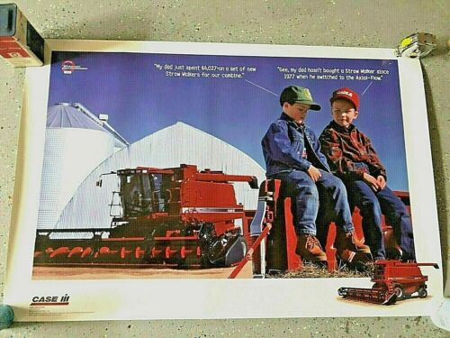 CASE/IH DEALER ISSUED COMBINE POSTER/PICTURE NICE