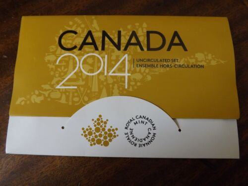 """2014 Canada """"Limited Edition of 75,000"""" Uncirculated Set Canadian Coins"""