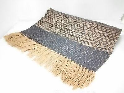 Auth GUCCI Dark Brown Black Wool Scarf