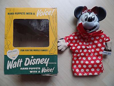 Minni Maus Handpuppe mit Stimme  (40er oder 50er Jahre USA)