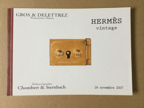 Catalogue enchères gros&delettrez - hermès vintage 2007 sac kelly / birkin neuf
