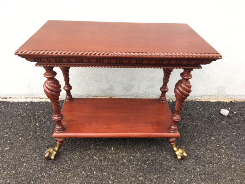 1880s Carved Merklen Mahogany Table