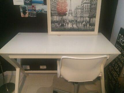 White desk chair Kings Cross Inner Sydney Preview