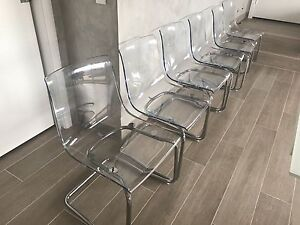 Ghost Dining Chairs- Clear Dolls Point Rockdale Area Preview