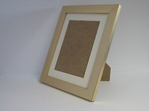 gold 8 x 10 photo picture frame mount 5 5 x 7 5 to stand ebay. Black Bedroom Furniture Sets. Home Design Ideas