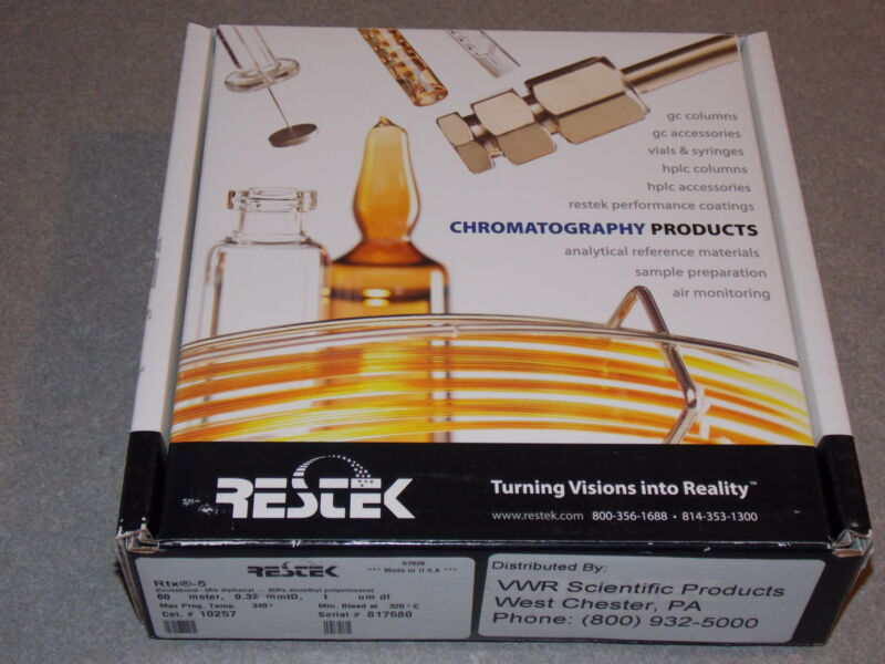 RESTEK GAS CHROMATOGRAPHY GC COLUMN RTX-5 CAT. #10257