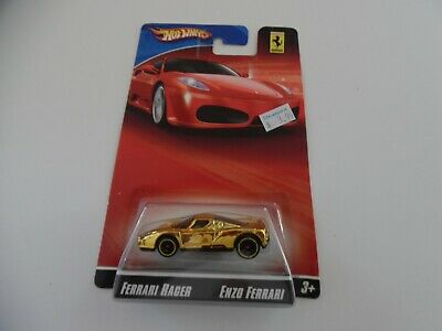 Hot Wheels Ferrari Racer Series Enzo Ferrari 60 Years Gold 1:64 Rare