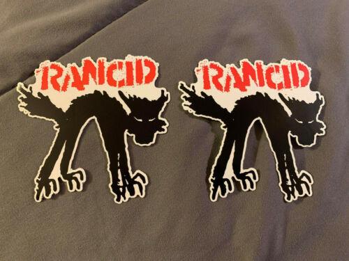 "Lot (2) RANCID 4"" x 4"" Punk Rock BLACK CAT Logo Stickers FAST! FREE! Ruby Soho"