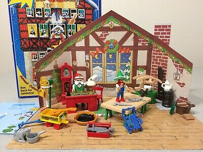 Complete! EXCELLENT! Playmobil Advent Calendar #3974 Santa's Workshop Furniture
