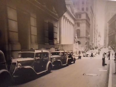 Taxi Stand (1936 Wall Street TAXI Stand NYC New York City Photo 8 x 10 WOW!!!)
