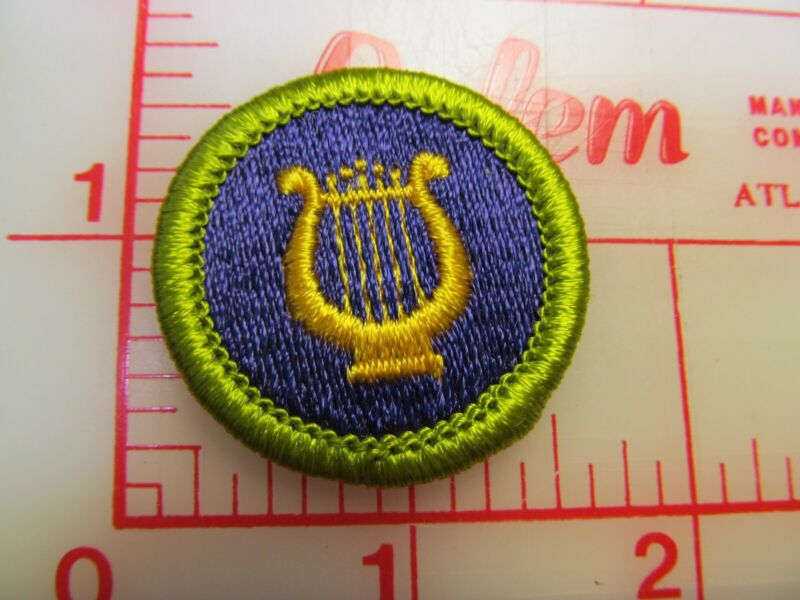 MUSIC merit badge plastic backed patch (oP)