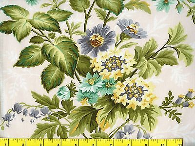 Country Blue Yellow & Green Flower Bouquets Flowers Quilting Fabric by Yard #924 for sale  Rose Bud