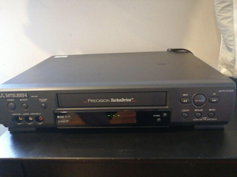 Mitsubishi Model HS-U748  Super VHS VCR Video Cassette Recorder