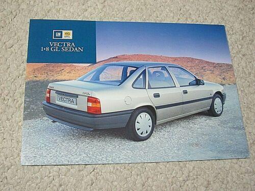 1990 NZ OPEL VECTRA GL SEDAN SALES BROCHURE...