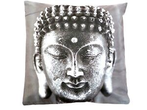 GREY BUDDHA DIGITAL PRINTED CUSHION COVER