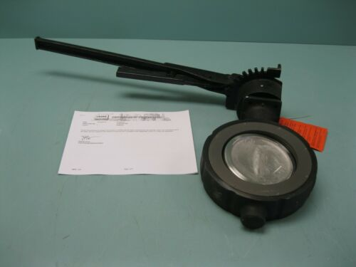 """6"""" 300# Crane Flowseal Wafer 3WA-12DRTG Butterfly Valve WCB x SS NEW P12 (2493)"""