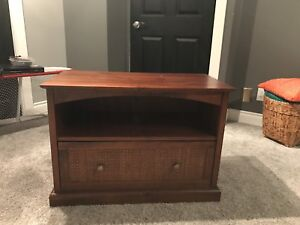 Pier 1 TV stand with drawer and shelf. Like new condition.