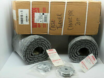 Intralox 400 Series 30 Deg Roller Top Plastic Conveyor Belt 16 X 10 X 2 Rolls
