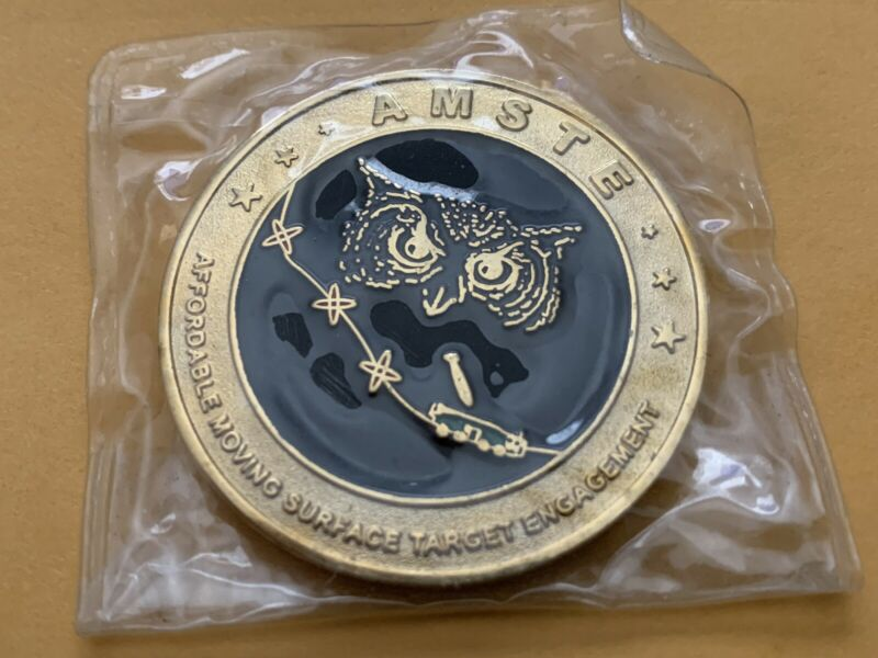 AMSTE Joint Forces Challenge Coin (2002 Issue) Still in the plastic!