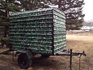 Covered cargo trailer
