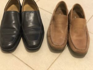 Men's Geox (size 9) & Hush Puppies (size 8.5) shoes