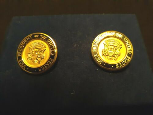 Vintage Political Cufflinks - Vice President of United States - WALTER MONDALE